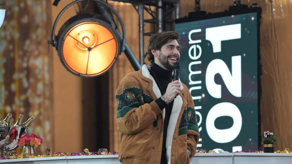 Silvester in Berlin -  Alvaro Soler am Brandenburger Tor